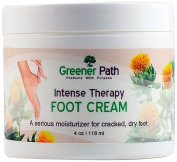 Greener Path Premium Quality Intensive Therapy Foot Cream, Moisturise for Cracked and Dry/Relieve Tired Feet from Natural Ingredients, Clean Delicate Fresh Scent