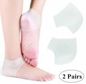 webueat Silicone Moisturising Gel Heel Socks Foot Care Protector, White
