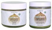 Cocokind Organic Matcha Face and Body Moisturiser Bundle With Organic Virgin Coconut Oil, Matcha Tea Powder, Pomegranate Oil and Bergamot Oil, 60ml and 120ml each