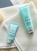 TULA Skin Care Mini Purifying Cleanser & Exfoliating Mask Duo with Probiotic Technology, 30ml & 15g.