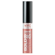 N.Y.C. New York Colour Big Bold Plumping and Shine Lip Gloss, Big City Blush, 0.39 Fluid Ounce