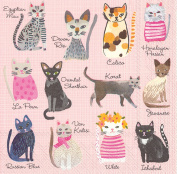 Ideal Home Range 20 Count Cool Cats Paper Luncheon Napkins