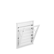 Laundry Room Space Saving Wall Mount Clothes Clothing Drying Rack Hanger Small Classic White 60cm W x 5.1cm D x 70cm H