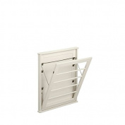 Laundry Room Space Saving Wall Mount Clothes Clothing Drying Rack Hanger Small Off White 60cm W x 5.1cm D x 70cm H