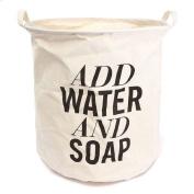Academyus Laundry Basket Washing Sorter Hamper Cotton Foldable Storage Bag -1