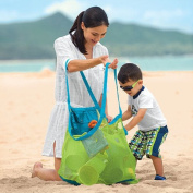 URToys New Large 460290cm Mesh Beach Bag Bathing Summer Portable Carrying Toys Beach Home Storage Bags Clothes Towel Bag Toy Mesh Design For Kid Children