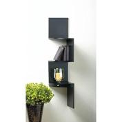 Shelves 3 TIER BLACK CORNER SHELF WITH DRAWER Wood Art Room Bar Dorm Den Office Kitchen