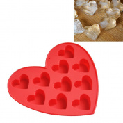 Fabal Silicone Ice Cube Tray Easy Pop Maker Heart Shape Cubes Mould Valentines Gift