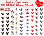 Disney Cruise Nail Art Decals. Clear Vinyl PEEL and STICK Nail Decals (NOT WATERSLIDE) Set of 62 by One Stop Nails CV-DC003-62