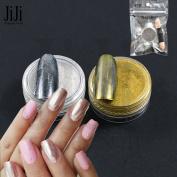 Trendy Nail Gold Sliver 1gNail Sequin Mirror Glitter Powder For Nails Shinning Dust Nail Art DIY Chrome Pigment Glitter 2/4