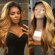Lace Front Wig Glueless Full Lace Wigs Human Hair Ombre Wig Black Roots 1B 27 Body Wave 100% Real Indian Virgin Hair With Baby Hair