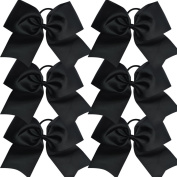 Bzybel 18cm Large Cheer Bow Cheerleading Bows Big Hair Bows with Ponytail Holder Jumbo Classic Accessories for Teens Women Girls Softball Cheerleader Sports Elastics