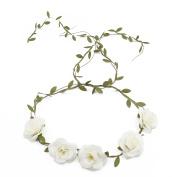 Merroyal Flower Crown Floral Crown Wedding Wreath Boho Garland for Wedding Festivals