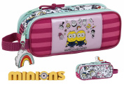 Minions 3 Girl Pencil Case, 21 cm, Pink