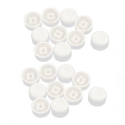 sourcingmap® 20Pcs Round Shaped Tactile Button Caps Covers Protector White for 13x7.7mm Tact Switch