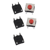 sourcingmap® 5Pcs 6mmx6mmx3.1mm Panel PCB Momentary Tactile Tact Push Button Switch 4 Terminals