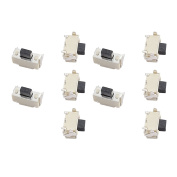 sourcingmap® 10Pcs 2mmx4mm Panel PCB Momentary Tactile Tact Push Button Switch