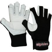 Via Ferrata Climbing Gloves BLACK BOA unisex Real Leather by Alpidex