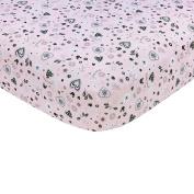 Disney Minnie Mouse Hello Gorgeous Crib Sheet, Pink/Black/White