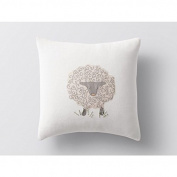 Coyuchi Decorative Pillow Cover, 36cm x 36cm - Sheep