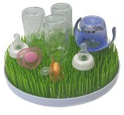 E-Living BPA-Free Green Grass Baby Bottle Air Drying Countertop Rack,