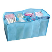 Academyus Mother Bag Travel Nappy Bag Storage Bag for Baby Nappy Bottle -Blue M