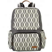Leke Baby Nappy Backpack with Chaning Pad for Mom and Dad, Grey