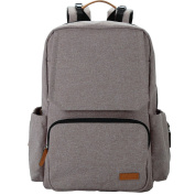 Leke Baby Nappy Backpack Bag with Nappy Chaning Pad Unisex for Mom and Dad, Grey