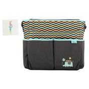 Baby Boom Elephant 8 Pockets Tote Nappy Bag