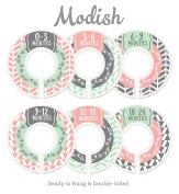 Modish Labels Baby Nursery Closet Dividers, Closet Organisers, Nursery Decor, Baby Girl, Woodland, Arrow, Tribal, Pink, Mint, Grey