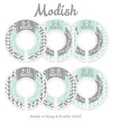 Modish Labels Baby Nursery Closet Dividers, Closet Organisers, Nursery Decor, Baby Boy, Woodland, Arrow, Tribal, Mint, Grey