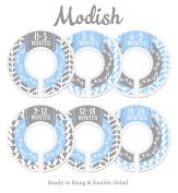 Modish Labels Baby Nursery Closet Dividers, Closet Organisers, Nursery Decor, Baby Boy, Woodland, Arrow, Tribal, Blue, Grey