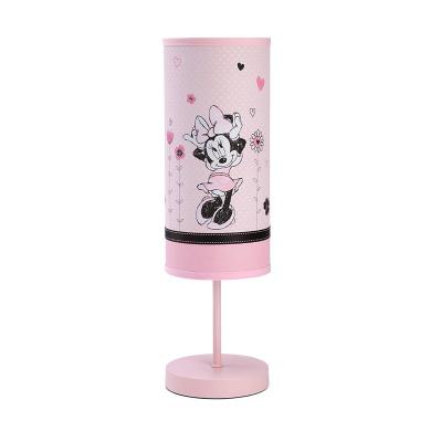 Disney Minnie Mouse Hello Gorgeous Lamp & Shade, Pink/Black/White