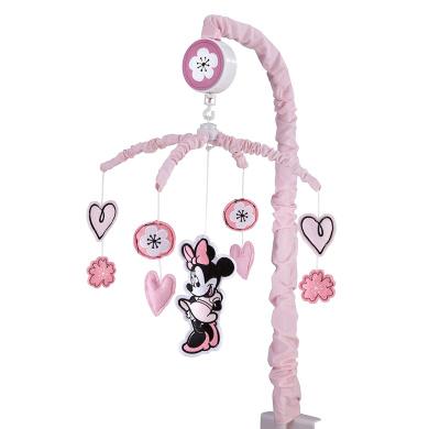Disney Minnie Mouse Hello Gorgeous Musical Mobile, Pink/Black/White