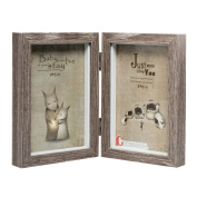 CECIINION Wood Picture Frame, Hinged Double Picture Frame, Double 10cm by 15cm