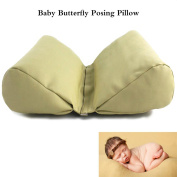 M & G House 2 PC Newborn Photography Basket Filler Wheat Butterfly Posing Pillow Baby Photo Prop
