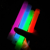 Glow Stick Light Up Toy Glowing in the Dark for Parties Festival Holiday Christmas Adults and Kids Favourite 17cm