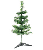 Canadian Green Artificial Christmas Tree with Stand, Green, Medium,46cm