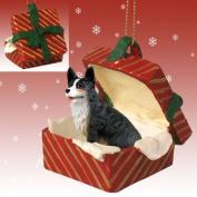 WELSH CORGI Dog Cardigan NEW Red Gift Box Christmas Ornament RGBD51B