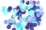 Fascola 2000 Pieces 2.5cm/1inch Blue Purple Turquoise Teal Aqua Paper Circle Confetti for Kids Birthday Party Decoration Supplies
