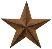 Small Dimensional Primitive Rustic Steel Metal Barn Star Hanger, 20cm , Rust/Black