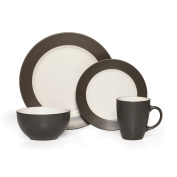Pfaltzgraff Everyday Harmony Charcoal 16-Piece Dinnerware Set, Service for 4