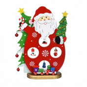 XILALU Wooden Assembling Christmas Santa Snowman Home Bedroom Decor Gifts DIY toy