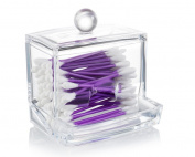 q tip holder acrylic - compact Swab Organiser - Cotton Bud Storage Box