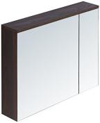 InFurniture IN3500-29M-BR 70cm Medicine Cabinet In Brown Elm Wood Texture Finish Medicine Cabinet