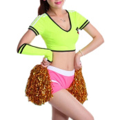 Yellow Colour Cheerleader Outfit for Soccer - Size L