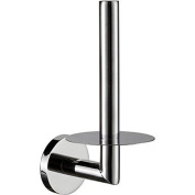Contemporary Stainless Steel Chrome Finished Toilet Paper Rack