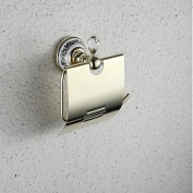 Contemporary Wall- Mount TI- PVD Finish Brass Toilet Paper Holders