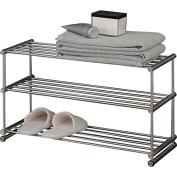 PSBA Floor Standing Shelf Towel Rack Bath Storage Holder 3-tier Matte Steel