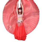 Mothers' Day Gift Lady Exotic Red Belly Dance Isis Wings Halloween Props